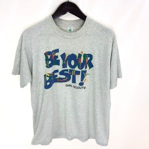 GIRL SCOUTS Be Your Best T-shirt XL Oversized